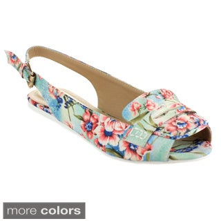 MACHI SPRING Women's Floral Flat Shoes