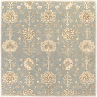 Hand-Tufted Syston Floral Wool Rug (6' Square)