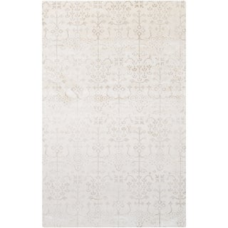 Hand-Loomed Romford Floral Viscose Rug (5' x 8')