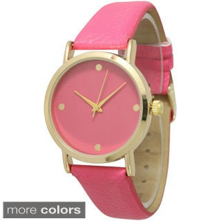 Olivia Pratt Women's Simple Chic Leather Strap Watch