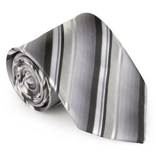 Vance Co. Men's Microfiber Striped Handmade Tie and Hanky Set