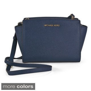 Michael Kors Selma Saffiano Leather Medium Messenger Bag