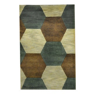 Herat Oriental Indo Hand-knotted Tribal Tibetan Multicolor/ Brown Wool Rug (2'7 x 4')