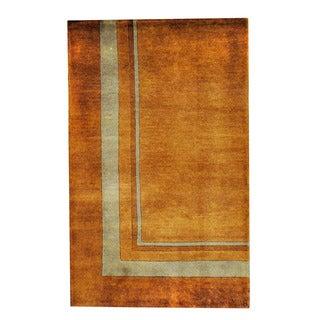 Herat Oriental Indo Hand-knotted Tribal Tibetan Rust/ Beige Wool Rug (2'7 x 4')