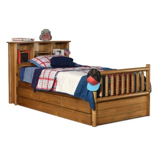 Timber Creek Twin Bookcase Mates bed with 2-in-1 Storage Trundle