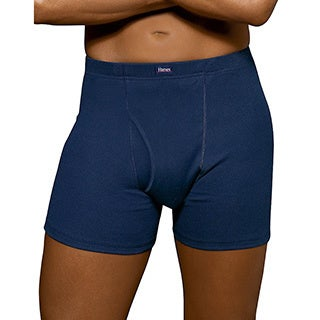Hanes Men's Comfortblend No Ride Up Boxer Briefs with ComfortSoft Waistband (Pack of 3)