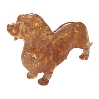 3D Crystal Dachshund 41-piece Puzzle
