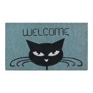 """Welcome Cat Coir Door Mat (18"""" x 30"""")"""