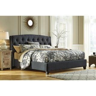 Signature Design by Ashley Kisidon Grey Upholstered Bed