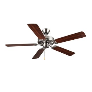 Monte Carlo HomeBuilder Brushed Steel 52-inch Ceiling Fan