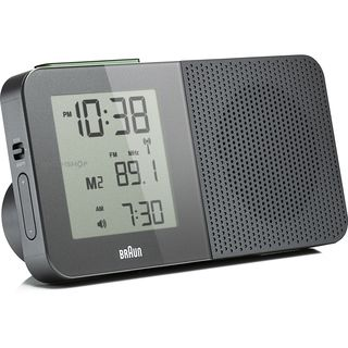 Braun Grey Digital LCD Global FM/AM Radio Alarm Clock