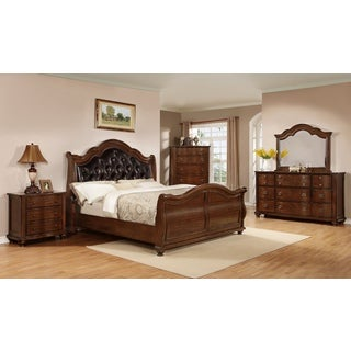 Elizabeth Warm Walnut Queen Bed