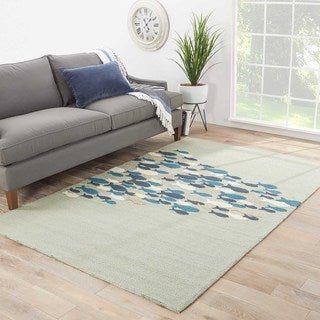 Indoor-Outdoor Animal Pattern Green/Green (5' x 7'6) AreaRug