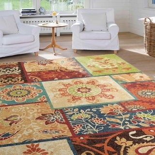 """Vibrance Collection Patchland Multi Area Rug (7'10"""" x 10'10"""")"""