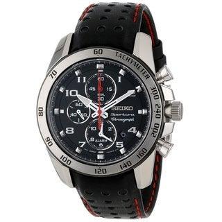 Seiko Men's SNAE65 Stainless Steel Alarm Chronograph Watch