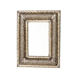 13 Inch Handcrafted Moroccan Metalwork Mirror