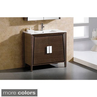 Somette Fine Fixtures Imperial II 36-inch Bath Vanity with Vitreous China Sink Top