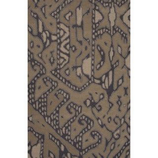 Hand-tufted Argyle Pattern Brown/ Brown Area Rug (2' x 3')