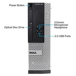 Dell OptiPlex 390 SFF 3.1GHz Intel Core i5 8GB RAM 2TB HDD Computer (Refurbished)