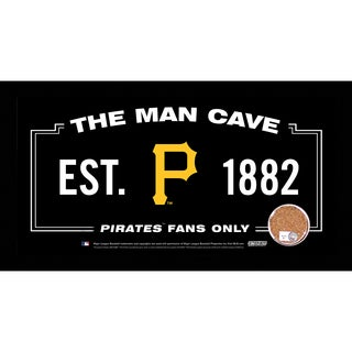 Pittsburgh Pirates Man Cave Sign 6x12 Framed Photo With Authentic Game-Used Dirt Capsule (MLB Auth)