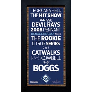 Tampa Bay Rays Subway Sign 6x12 Framed Photo
