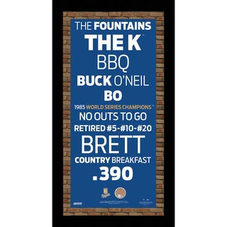 Kansas City Royals Subway Sign w/ Game Used Dirt Mini Framed 10x20 Photo (Brick Background)