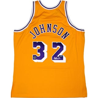 Magic Johnson Home Yellow Lakers Replica Jersey