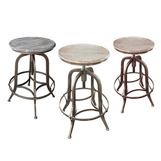 Chester Retro Steel Rotating Adjustable Height Barstool (Set of 4)