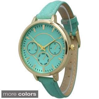 Olivia Pratt Women's Skinny Leather Band Watch