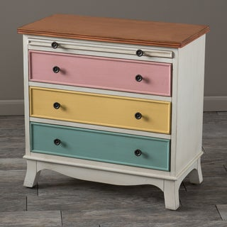 Christopher Knight Home Woodmont Multi-Color Wood Cabinet with Pull-Out Shelf