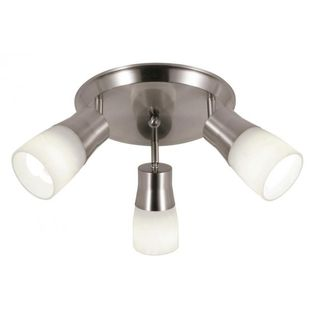Cambridge 3-Light Brushed Nickel 14 in. Track Light with Opal Glass