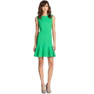 Diane Von Furstenberg Hot Green Jaelyn Sleeveless Knit Day Dress