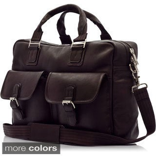 Muiska 16-inch Vienna Handmade Vaquetta Leather Laptop Messenger Briefcase