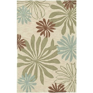 Fashion Blue/ Ivory Abstract Area Rug (9' x 12'9)
