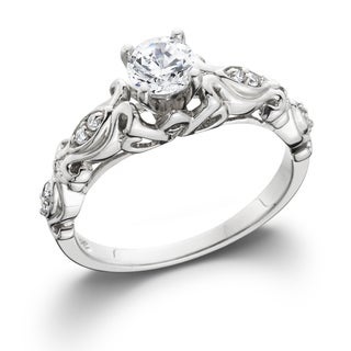 Bliss 14k White Gold 1/2ct TDW Vintage Diamond Engagement Ring (H-I, I1-I2)