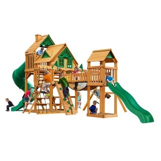 Gorilla Playsets Treasure Trove Treehouse Swing Set With