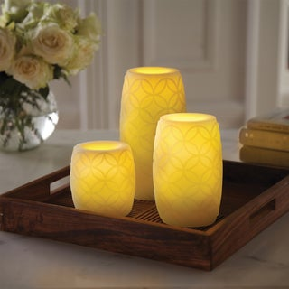 Order Home Collection 3-piece Embossed Candle Set with Timer