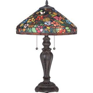 Tiffany Villanova Imperial Bronze Finish 2-light Table Lamp