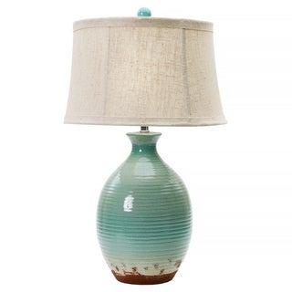 Ocean Spray Crackle 28-inch Ceramic Table Lamp