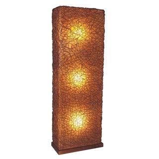 Decorative Dudley Brown Geometric Transitional Floor Lamp