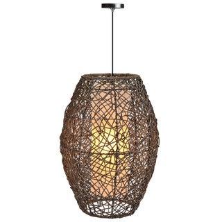 Decorative Chula Brown Geometric Transitional Hanging Pendant Lamp
