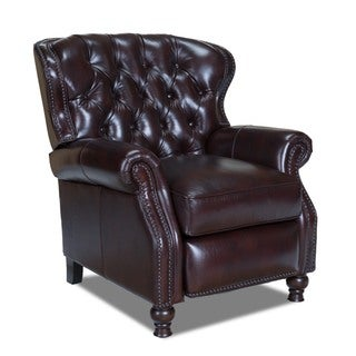 Naples Chestnut Cambridge Leather Recliner