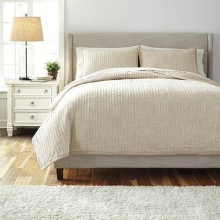 Signature Designs by Ashley Hand Quilted Natural 3-piece Comforter Set
