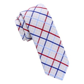 Skinny Tie Madness Men's Plaid Skinny Tie