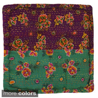 Small Floral Floor Cushions (India)