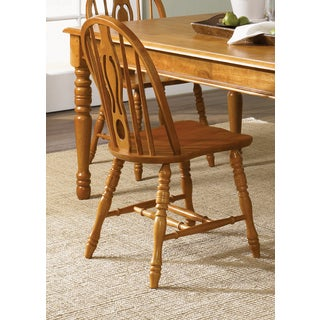 Country Haven Traditional Spice Windsor Side Chair