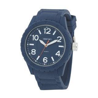 Regimen Men's RW1184 Classic Analog Blue Rubber Strap Watch