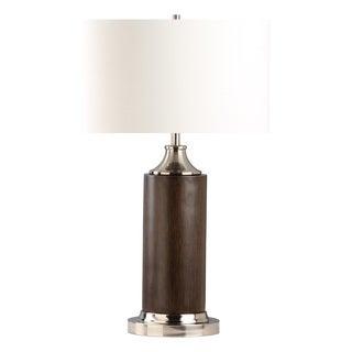 Nova Lighting Cracker Barrel Table Lamp with Pecan Wooden Body