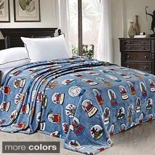 BNF Home Printed Cities Flannel Fleece Blanket