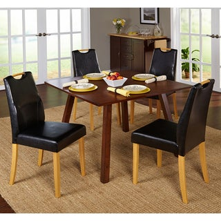 Simple Living 5-piece Ruben Dining Set with Black Chairs